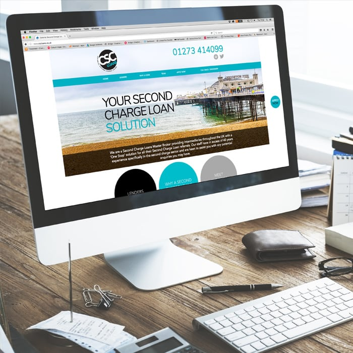 website design for CSC loans Brighton