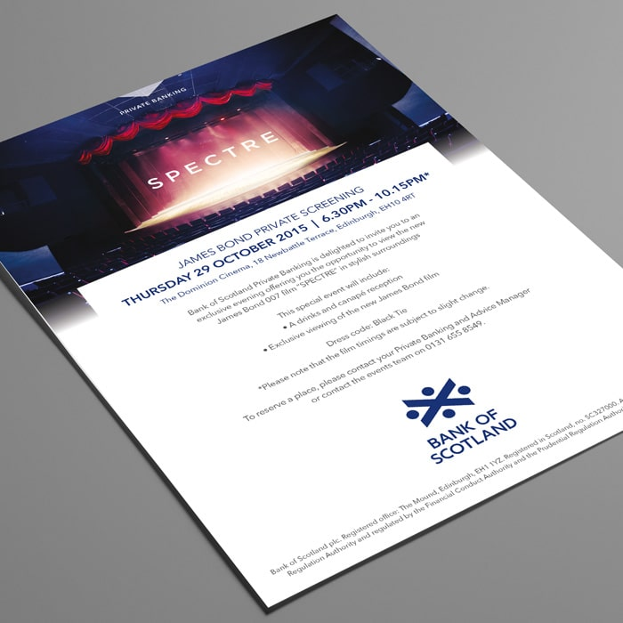 Screening invite design for Bank of Scotland