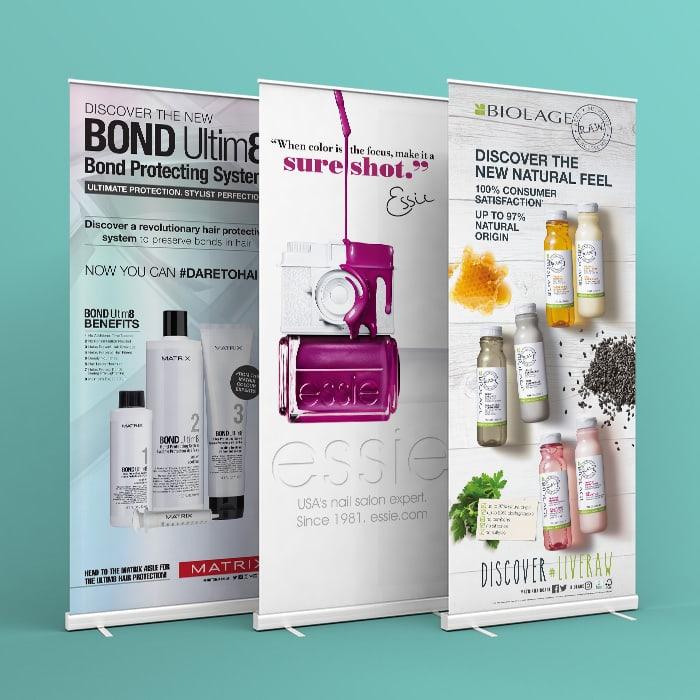 Roller Banner Designs for L'Oreal Matrix