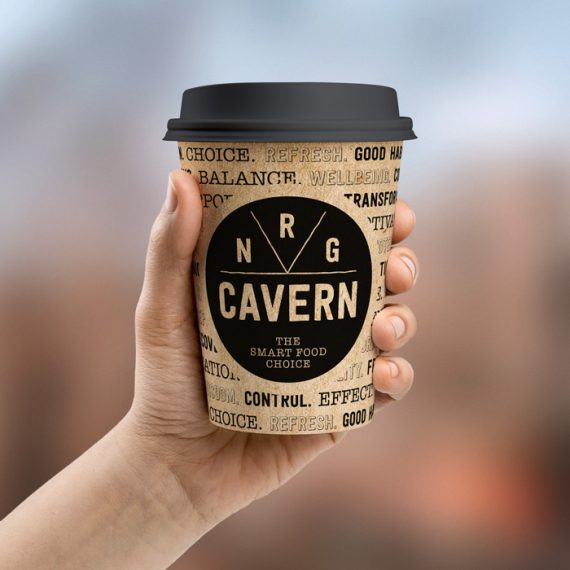 Logo and branding design project for NRG Cavern Worthing