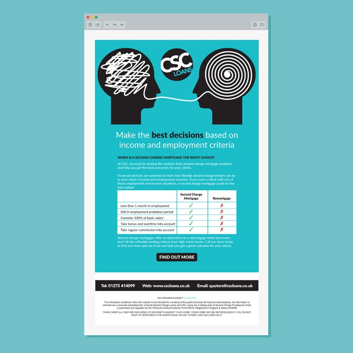 CSC Loans Email Campaign design