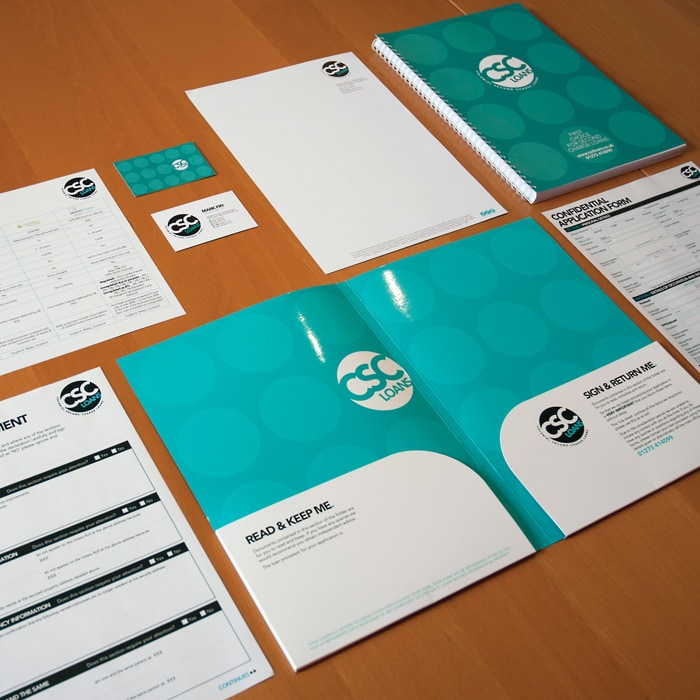 branding design and application for CSC Loans Brighton