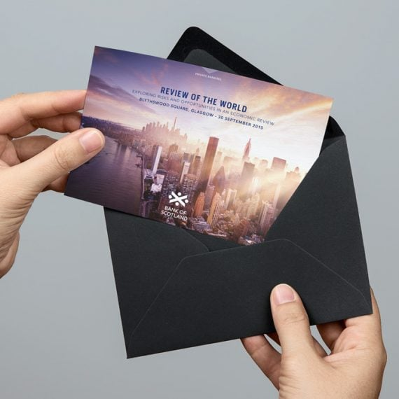 Bank of Scotland invitation design project