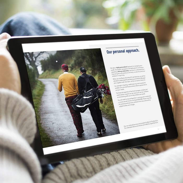 Bank of Scotland downloadable brochure design
