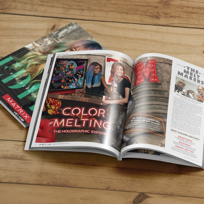 Magazine Design for L'Oreal (Matrix)