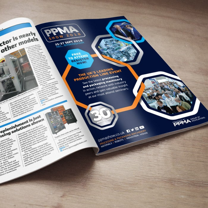 PPMA trade advert design
